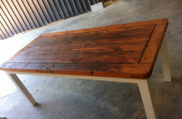 Furniture recycled table